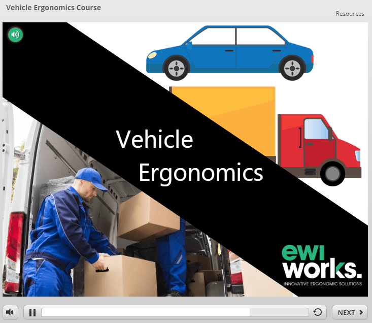 Canadian Online Vehicle Ergonomics Course