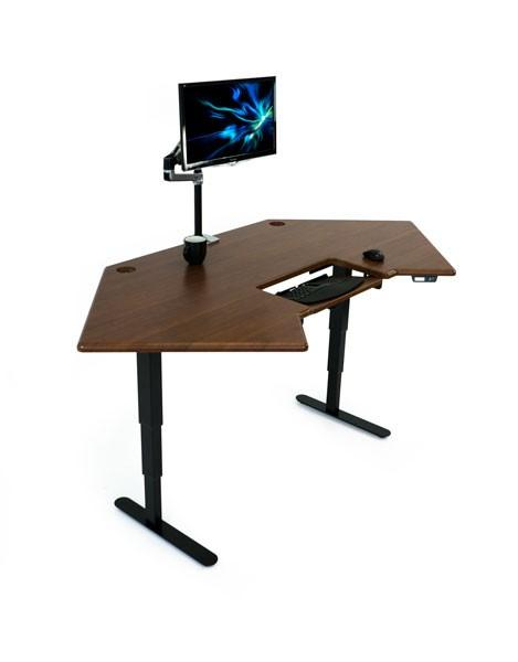 Cascade Corner Standing Desk with monitor at Fitneff.com