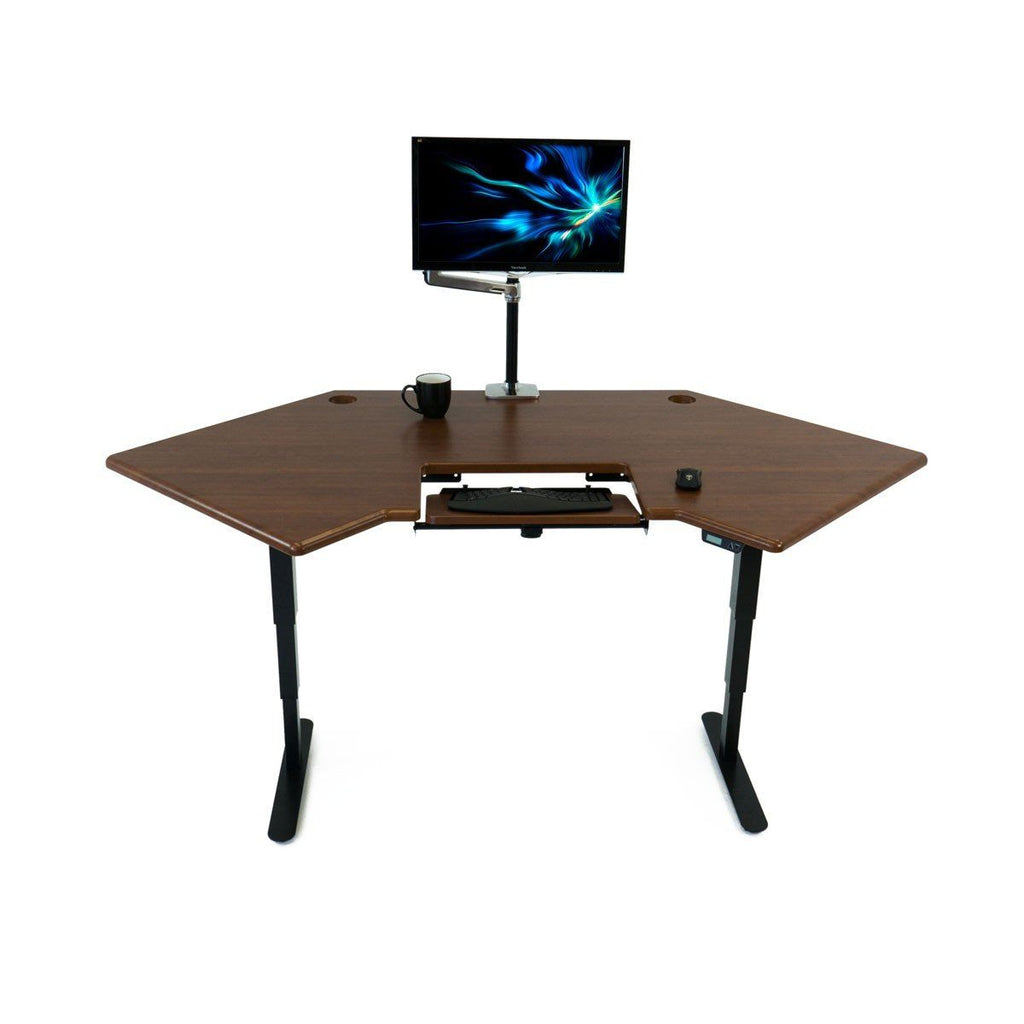 Cascade Corner Standing Desk with monitor