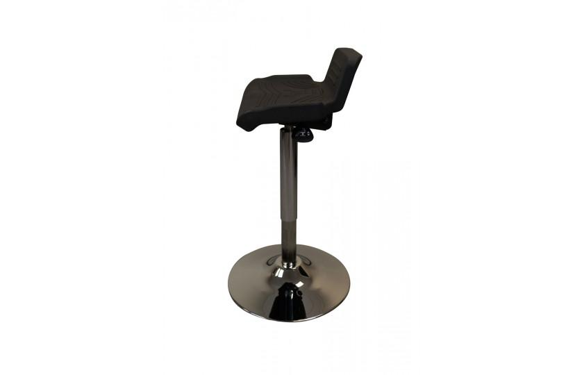 Black Tempo TreadTop Sit-Stand Stool by iMovR from Active Goods Canada