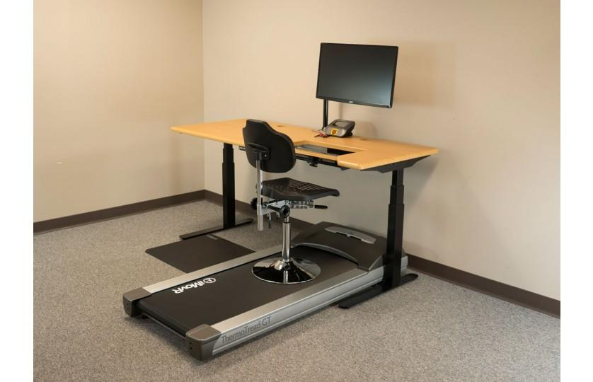Tempo TreadTop Office Chair by iMovR on treadmill with desk  from Active Goods Canada