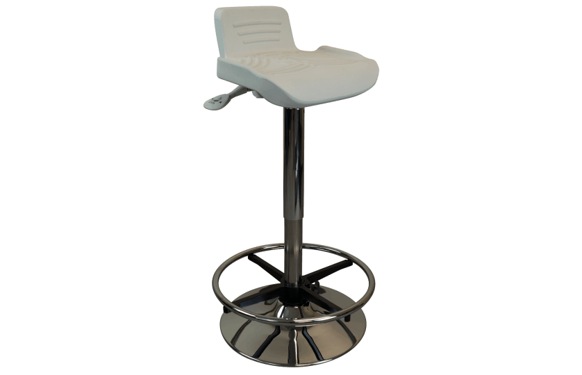 Tempo TreadTop Sit-Stand Stool by iMovR from Active Goods Canada- beige