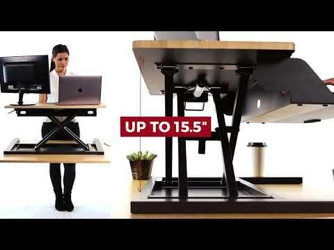 LUXOR Level Up 32 Pro Standing Desk Converter Fitneff Canada