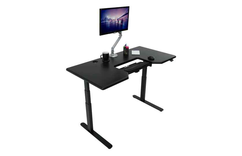 iMovR Large Lander Standing Desk with SteadyType Tilting Keyboard from Active Goods Canada