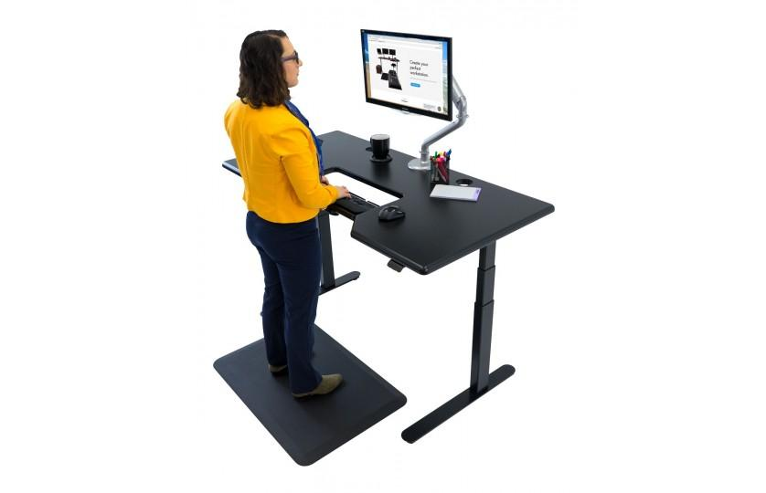 iMovR Large Lander Standing Desk with SteadyType Tilting Keyboard, Fitneff Canada