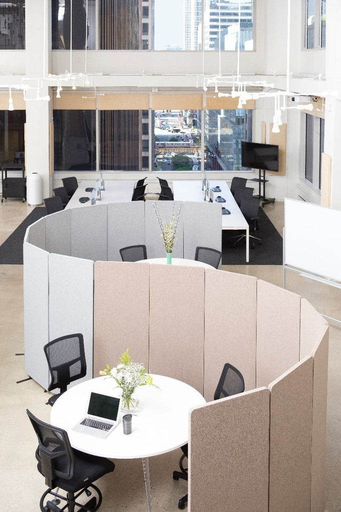 Acoustic Room Divider absorb noise in open concept office space Active Goods Canada