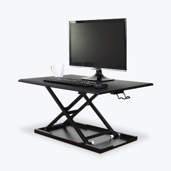 Luxor level up 32 standing desk converter - black extended from Active Goods Canada