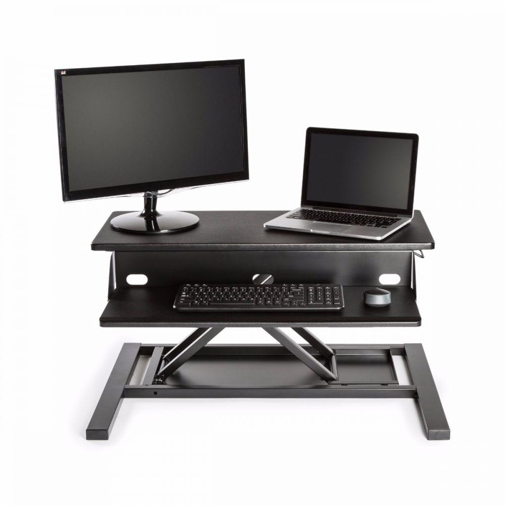 LUXOR Level Up 32 Pro Standing Desk Converter - Lap Top and Monitor