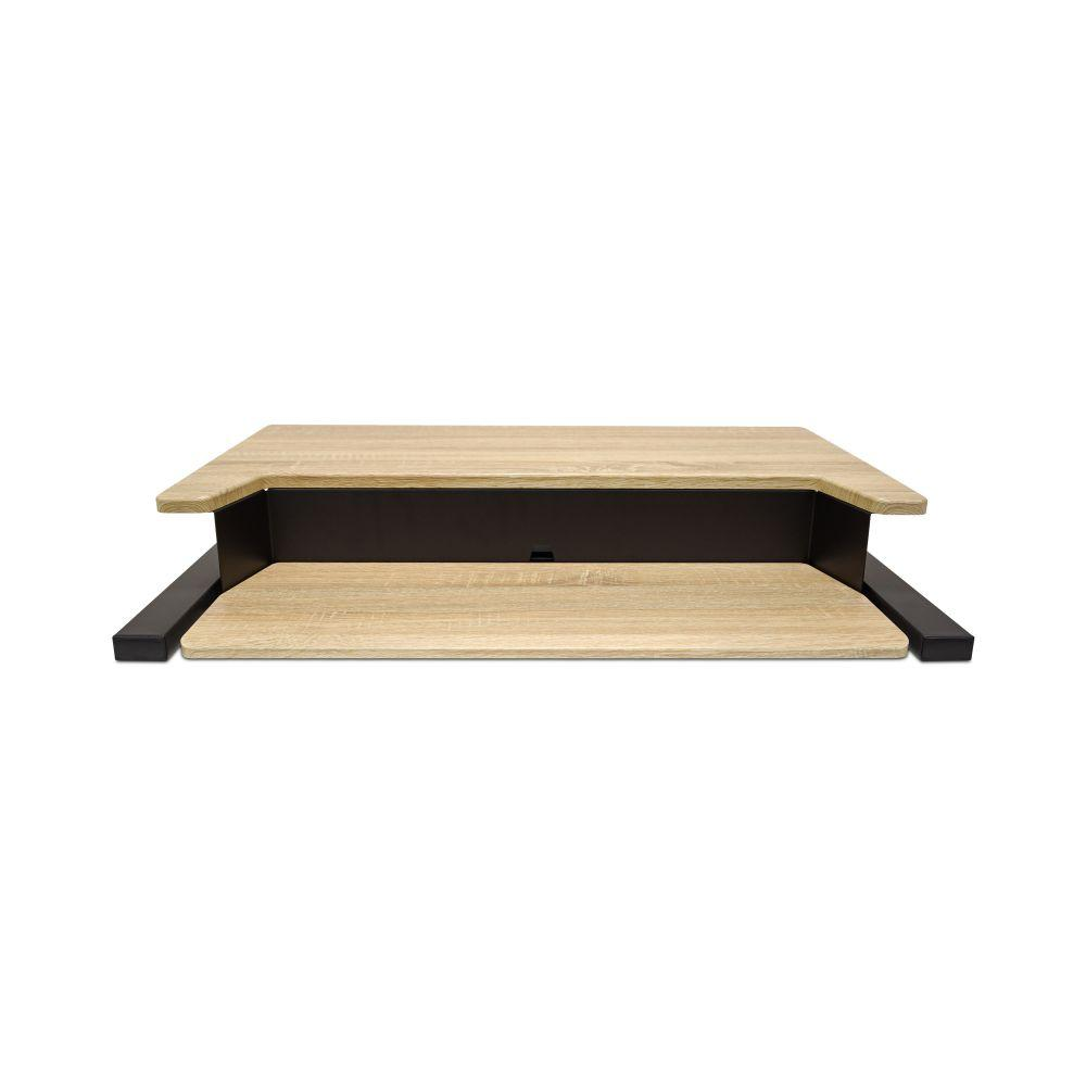 LUXOR Level Up 32 Pro Standing Desk Converter - Wood compacted