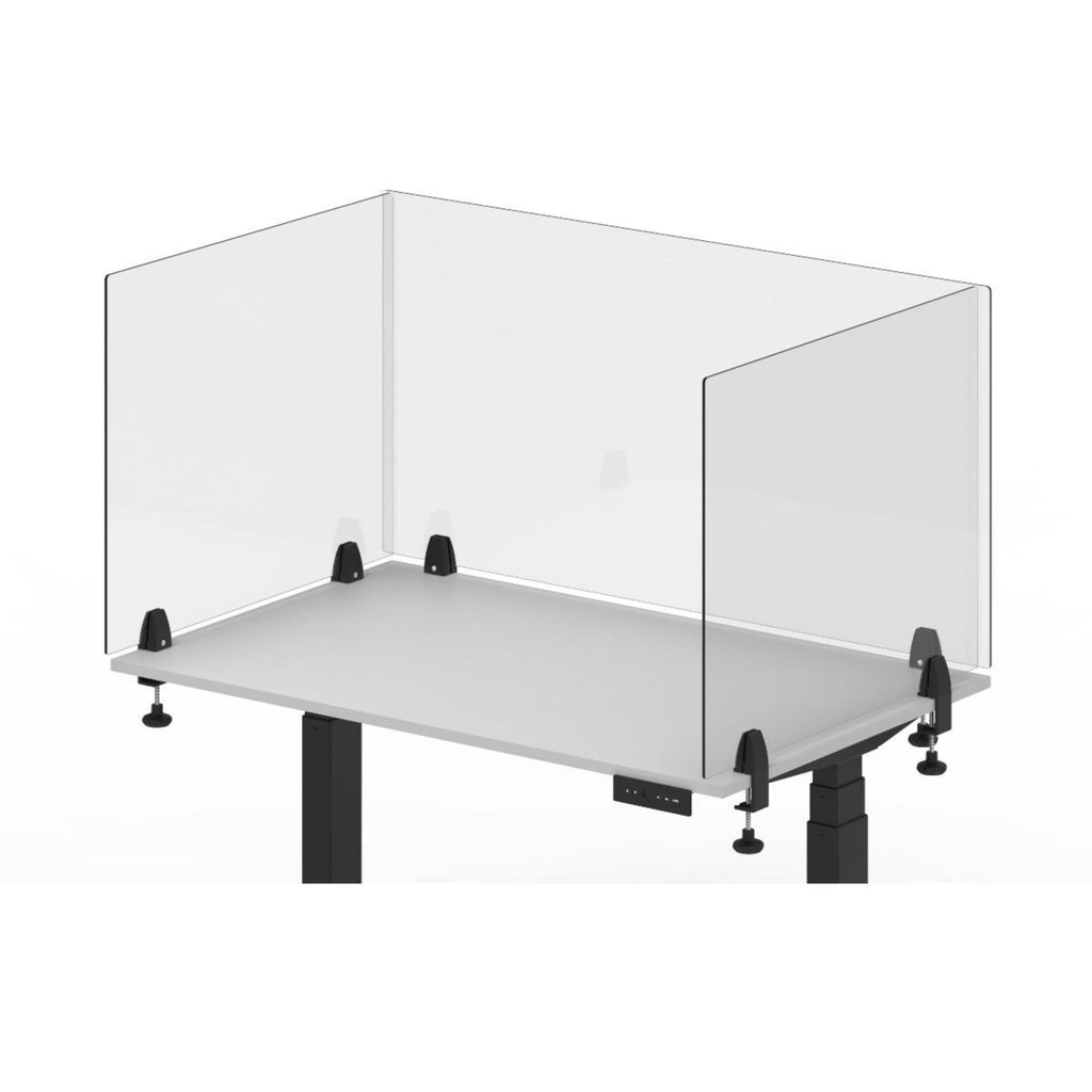 Luxor RECLAIM Acrylic Sneeze Guard Desk Divider from Active Goods Canada