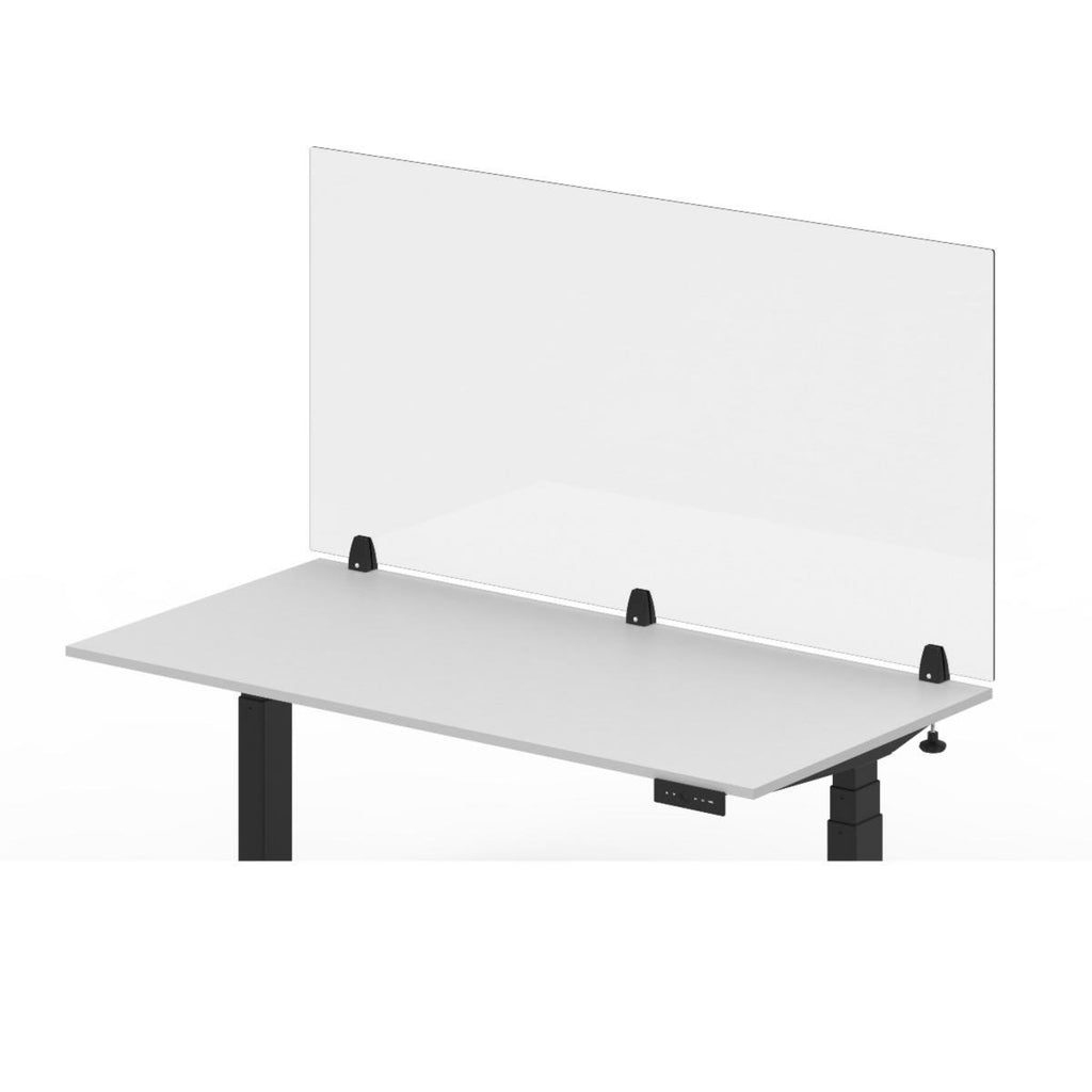 Luxor RECLAIM Acrylic Sneeze Guard Desk Divider