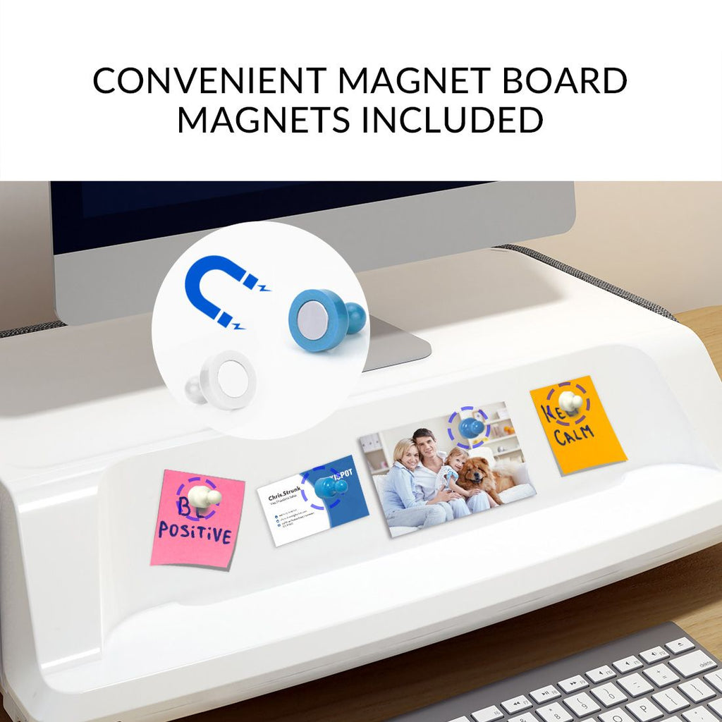 FlexiSpot MonitorStand Workstation Covenient magnet board. Active Goods Canada