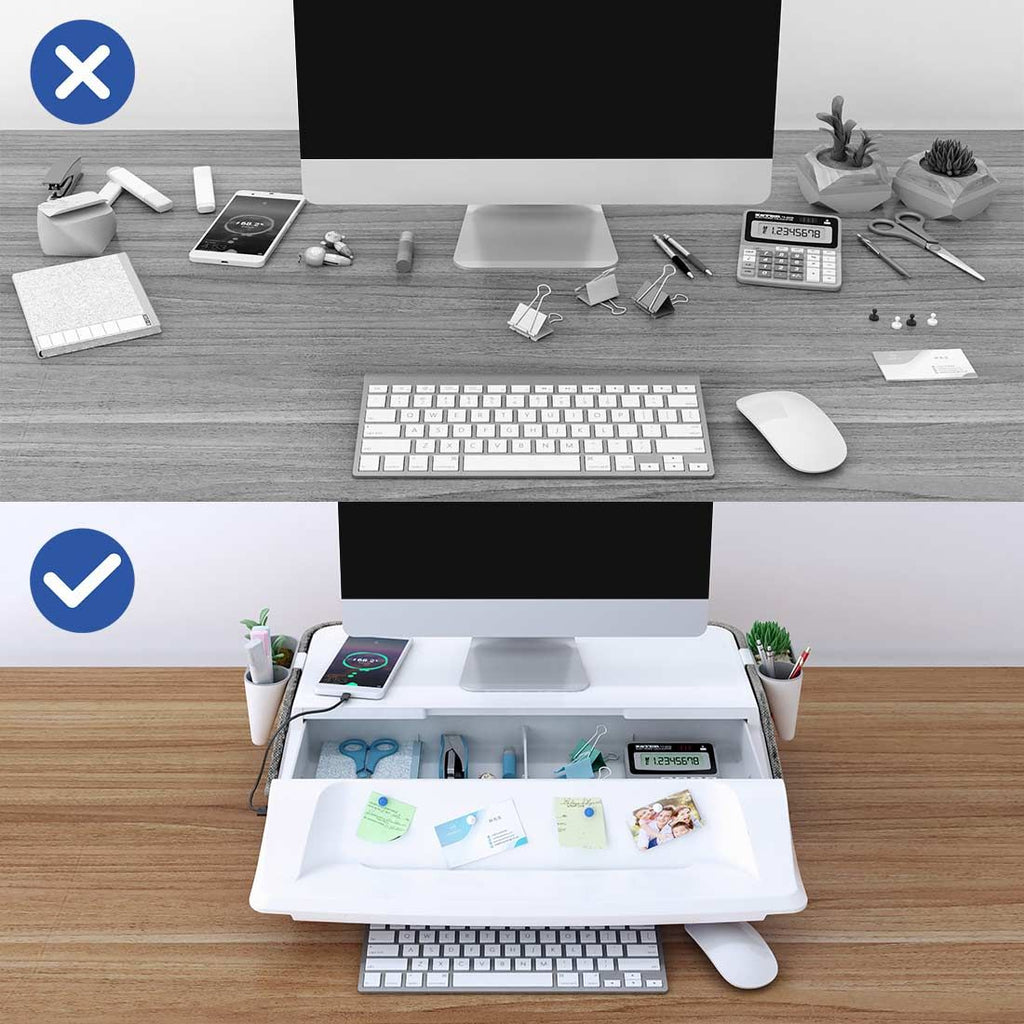FlexiSpot MonitorStand Workstation organized desk top from Active Goods Canada