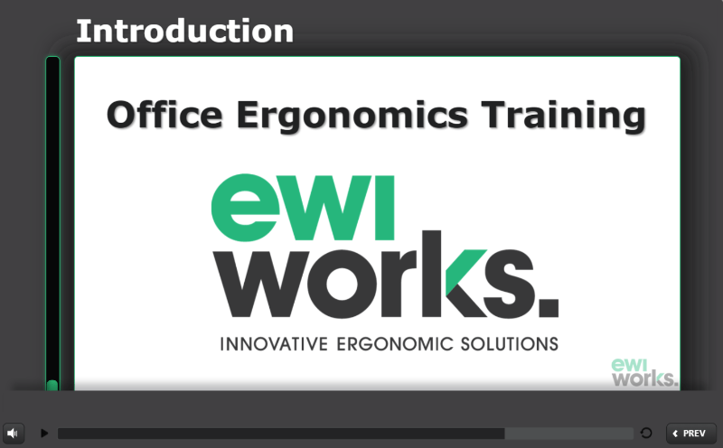 Canadian Online Office Ergonomics Course and Self-Adjustment Tool