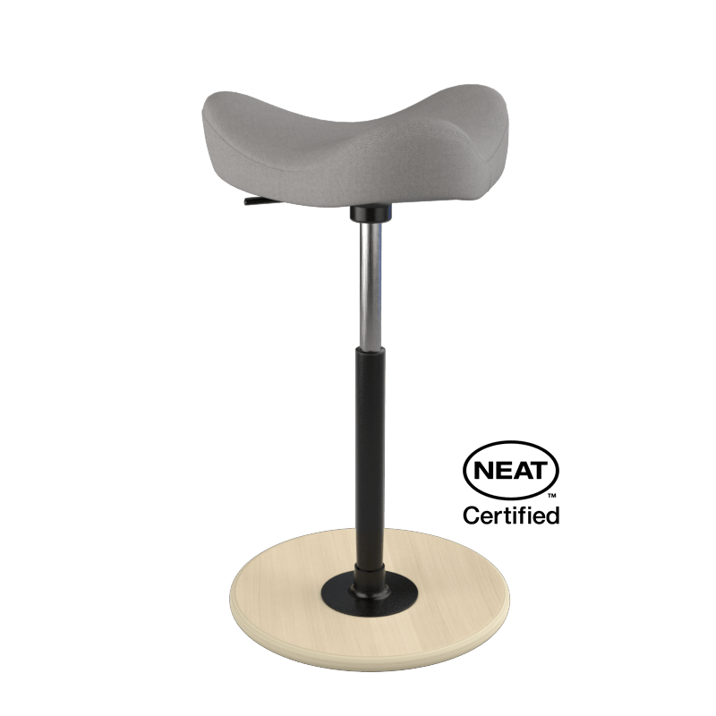 Varier Move ergonomic Active Stool from Fitneff Canada - grey