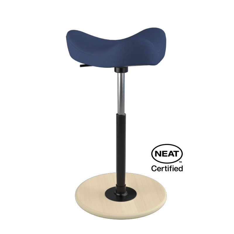 Varier Move ergonomic Active Stool from Fitneff Canada - blue