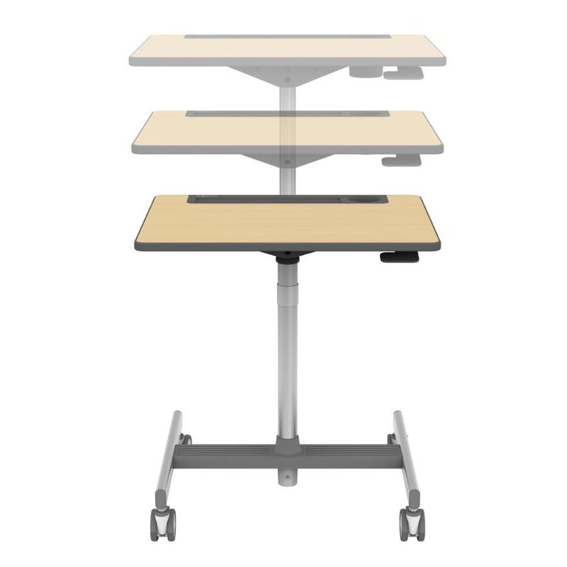 Fusion Maple sit-stand desk Fitneff Canada