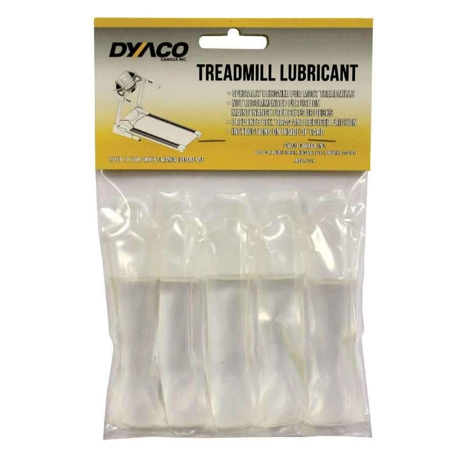 Dyaco Treadmill Silicone Lubricant (5 Pack) works with nearly every treadmill on the market. Package contains a 10 month supply of lubricant.