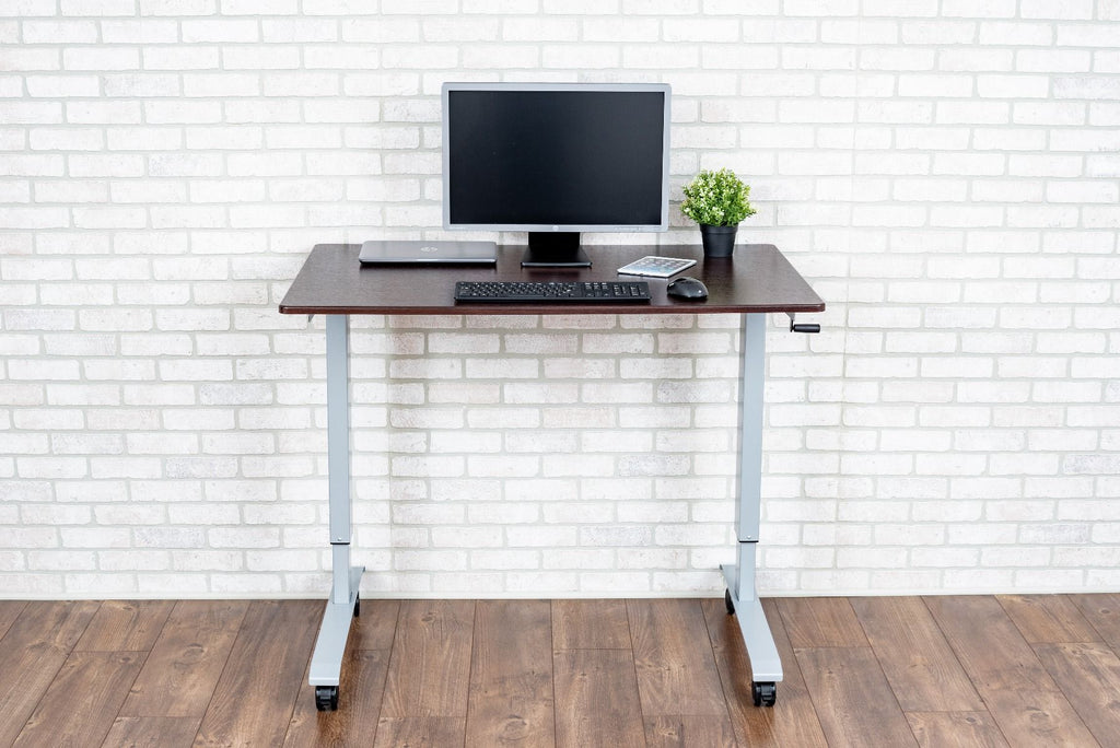 Luxor High Speed Crank Sit Stand Up Adjustable desk from Active Goods Canada