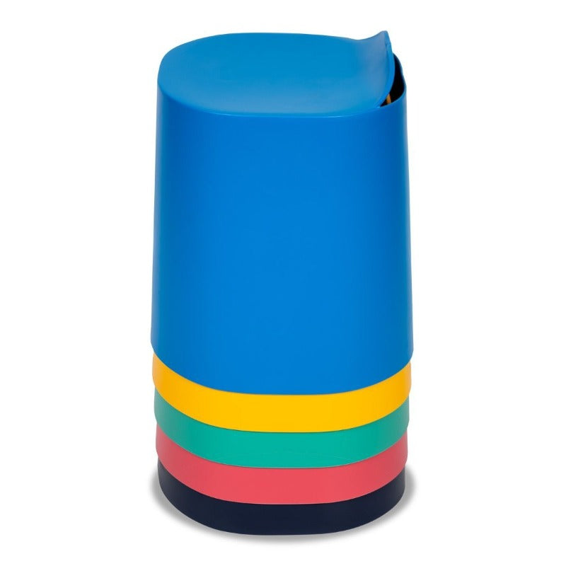 Luxor TailFin Plastic Stackable Stools from Fitneff Canada  - stacked 5 high