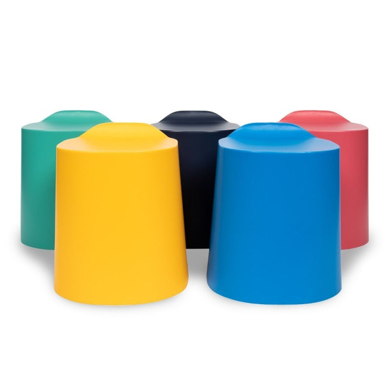 Luxor TailFin Plastic Stackable Stools in 5 colours from Fitneff Canada