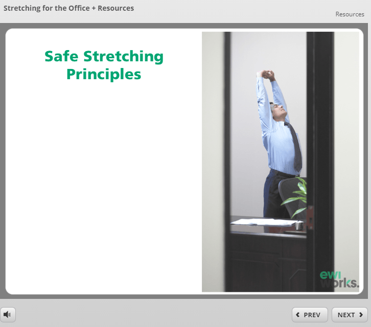 Canadian Online Stretching for the Office Course