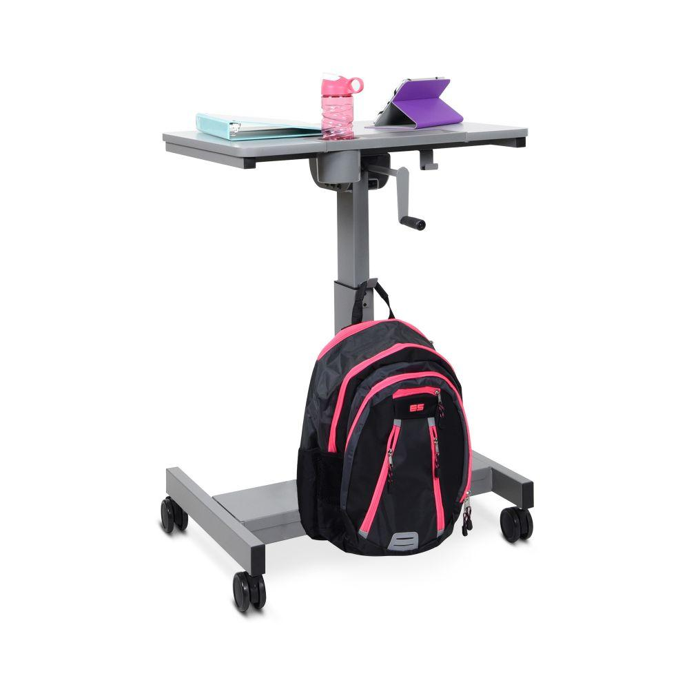 Luxor Hand Crank Adjustable Student Desk from Fitneff - Front