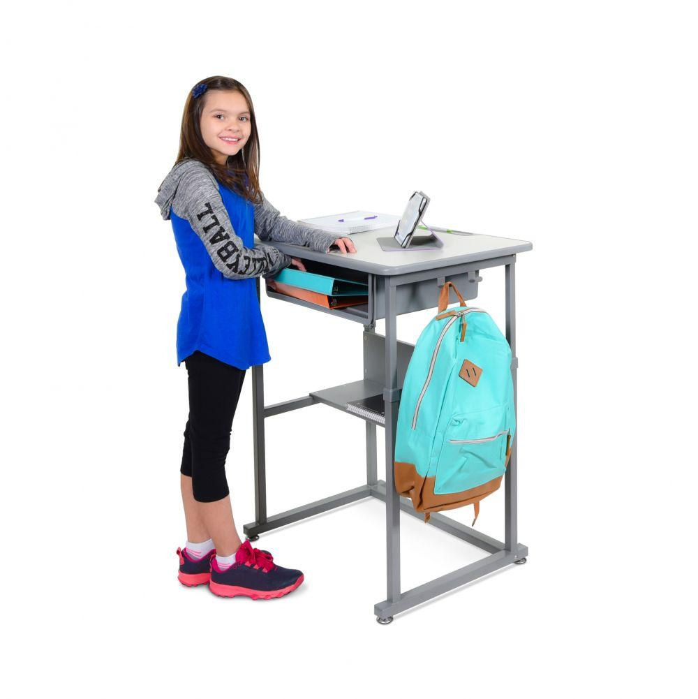 Luxor Manual Adjustable Student Desk from Fitneff - Standing