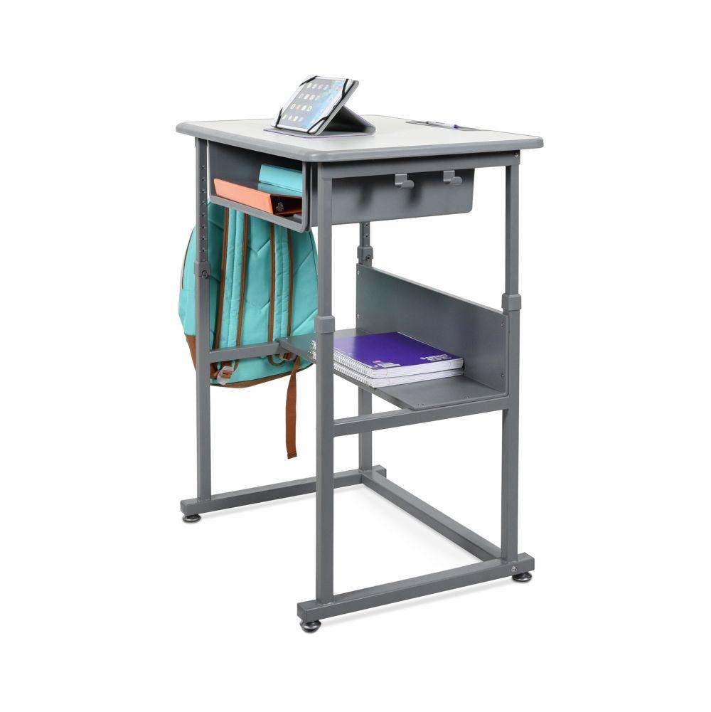 Luxor Manual Height-adjustable classroom standing desk