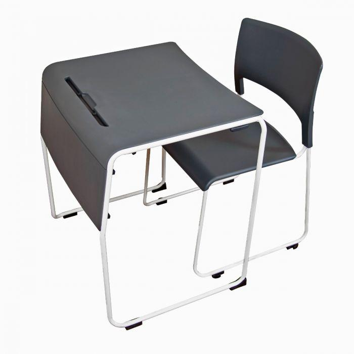 Luxor Lightweight Stackable Student Desk and Chair by Fitneff Canada
