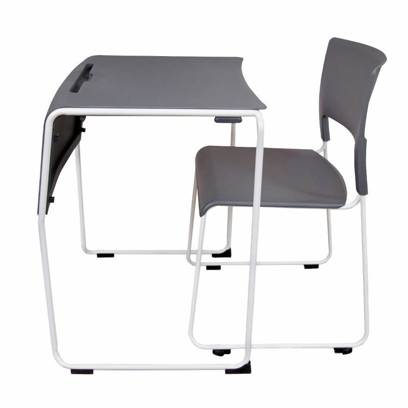 Luxor Lightweight Stackable Student Desk and Chair by Fitneff Canada - side view