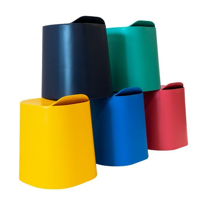 Luxor TailFin Plastic Stackable Stools from Active Goods Canada - back view