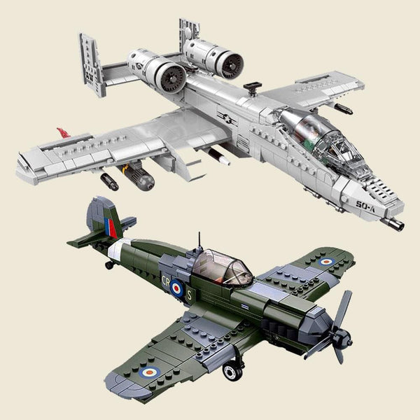 A10 Thunderbolt II and Supermarine Spitfire