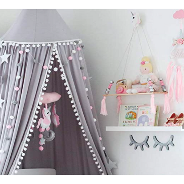 Unique Children's Pom Pom Canopy - NotInTheMalls