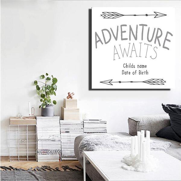 Adventure Awaits Personalised Children's Wall Art - NotInTheMalls