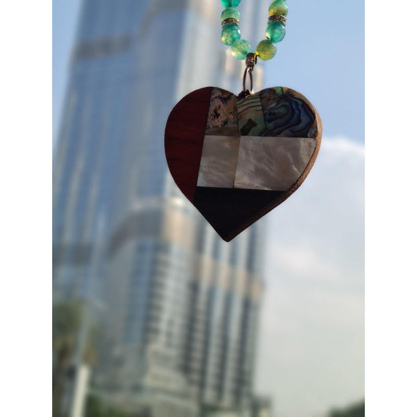 UAE Heart Mirror Pendant - NotInTheMalls