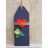Handmade Wooden Door Tags with Personalized Message