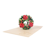 Christmas Wreath Pop Up Card - NotInTheMalls