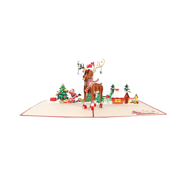 Rudolph Pop Up Card - NotInTheMalls