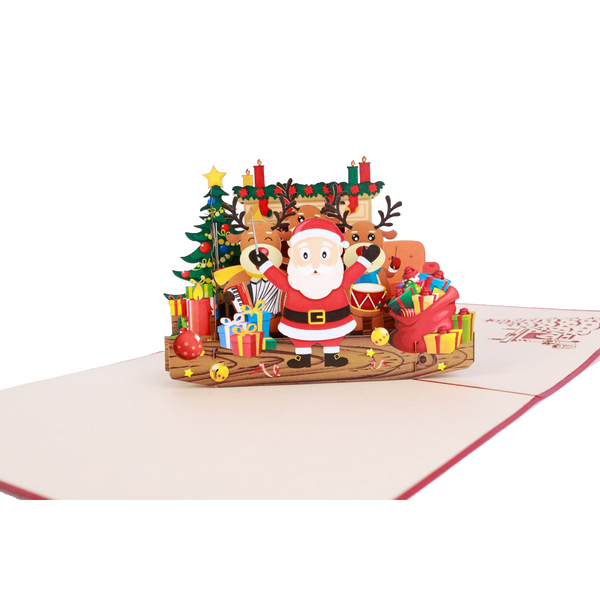 Singing Santa Pop Up Card - NotInTheMalls