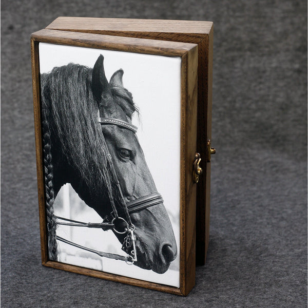 """Equine Elegance"" Handmade Ash Wood Box - NotInTheMalls"