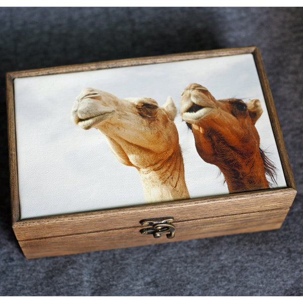 """Singing Camels"" Handmade Ash Wood Box - NotInTheMalls"