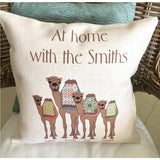 Camel Family Cushion - Personalised - NotInTheMalls