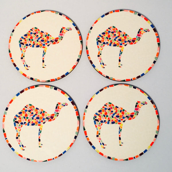 Camel Mosiac Coasters - Set of 4 - NotInTheMalls