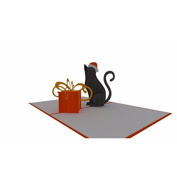 Christmas Cat Pop Up Card - NotInTheMalls