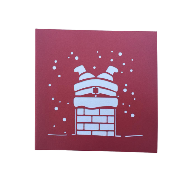Santa Chimney Pop Up Card - NotInTheMalls