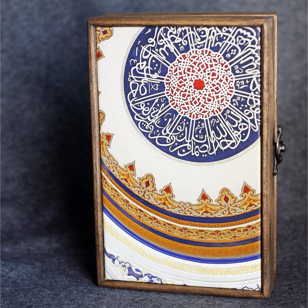 """Dubai Cirle"" Handmade Ash Wood Box - NotInTheMalls"