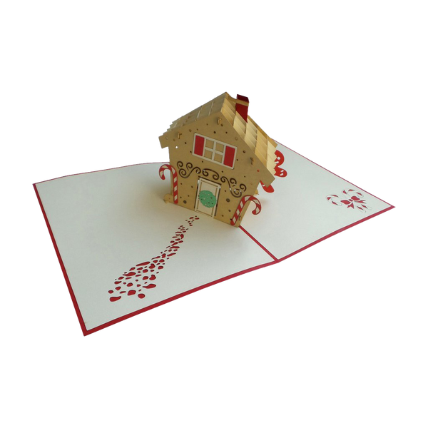Gingerbread House Pop Up Card - NotInTheMalls