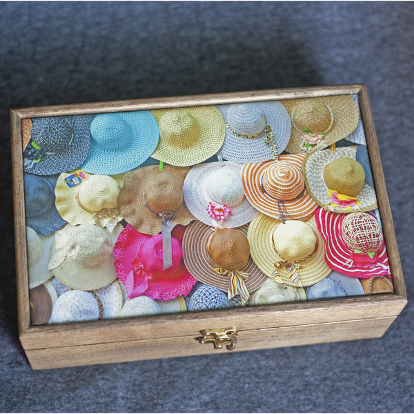 """Happy Hats"" Handmade Ash Wood Box - NotInTheMalls"