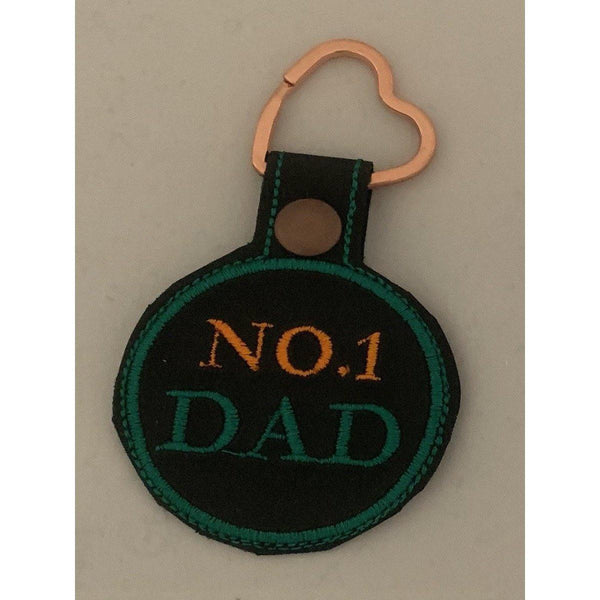 Number 1 Dad Leather Keyring - NotInTheMalls